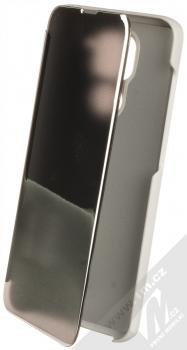 1Mcz Clear View flipové pouzdro pro Xiaomi Redmi Note 9 stříbrná (silver)