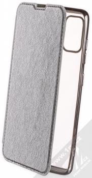 1Mcz Electro Book flipové pouzdro pro Samsung Galaxy A41 stříbrná (silver)