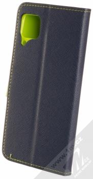 1Mcz Fancy Book flipové pouzdro pro Huawei P40 Lite modrá limetkově zelená (blue lime) zezadu