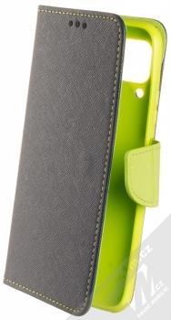 1Mcz Fancy Book flipové pouzdro pro Huawei P40 Lite modrá limetkově zelená (blue lime)