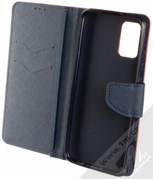 1Mcz Fancy Book flipové pouzdro pro Samsung Galaxy A02s červená modrá (red blue) otevřené