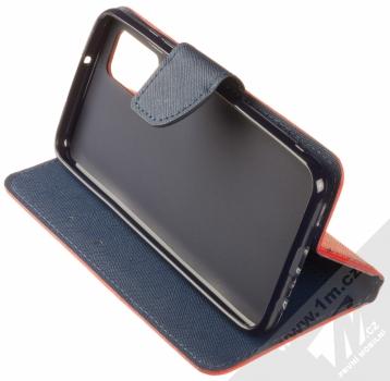 1Mcz Fancy Book flipové pouzdro pro Samsung Galaxy A02s červená modrá (red blue) stojánek