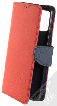1Mcz Fancy Book flipové pouzdro pro Samsung Galaxy A02s červená modrá (red blue)