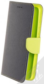 1Mcz Fancy Book flipové pouzdro pro Xiaomi Poco F2 Pro modrá limetkově zelená (blue lime)