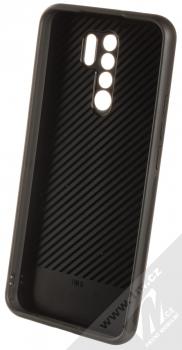 1Mcz Glass Cover ochranný kryt pro Xiaomi Redmi 9 černá (black) zepředu