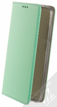 1Mcz Magnet Book flipové pouzdro pro Xiaomi Redmi Note 9 mátově zelená (mint green)