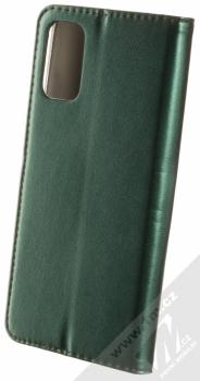 1Mcz Magnetic Book flipové pouzdro pro Xiaomi Redmi Note 10 5G, Poco M3 Pro tmavě zelená (dark green) zezadu