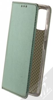 1Mcz Magnetic Book flipové pouzdro pro Xiaomi Redmi Note 10 5G, Poco M3 Pro tmavě zelená (dark green)