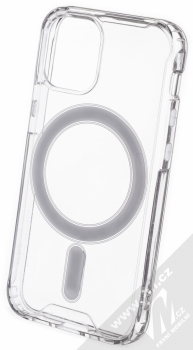1Mcz MagSilicone TPU ochranný kryt s MagSafe pro Apple iPhone 12 mini průhledná (transparent)