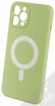 1Mcz MagSilicone TPU ochranný kryt s MagSafe pro Apple iPhone 12 Pro Max světle zelená (light green)