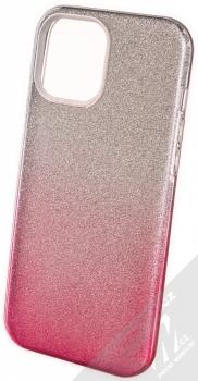 1Mcz Shining Duo TPU třpytivý ochranný kryt pro Apple iPhone 12 Pro Max stříbrná růžová (silver pink)