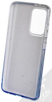 1Mcz Shining Duo TPU třpytivý ochranný kryt pro Samsung Galaxy A52, Galaxy A52 5G stříbrná modrá (silver blue) zepředu
