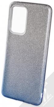 1Mcz Shining Duo TPU třpytivý ochranný kryt pro Samsung Galaxy A52, Galaxy A52 5G, Galaxy A52s 5G stříbrná modrá (silver blue)