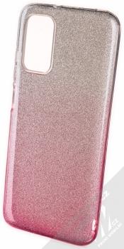 1Mcz Shining Duo TPU třpytivý ochranný kryt pro Xiaomi Redmi 9T stříbrná růžová (silver pink)