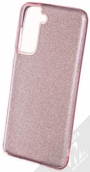 1Mcz Shining TPU třpytivý ochranný kryt pro Samsung Galaxy S21 růžová (pink)