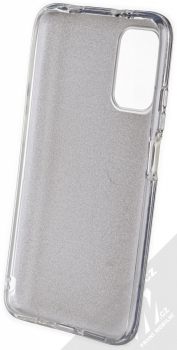 1Mcz Shining TPU třpytivý ochranný kryt pro Xiaomi Redmi 9T stříbrná (silver) zepředu