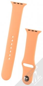 1Mcz Silikonový sportovní řemínek pro Apple Watch 42mm, Watch 44mm broskvově oranžová (peach)