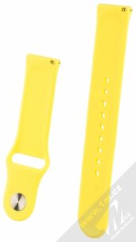 1Mcz Silikonový sportovní řemínek s univerzální osičkou 22mm žlutá (yellow) zezadu