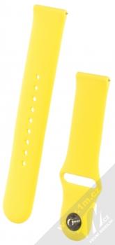 1Mcz Silikonový sportovní řemínek s univerzální osičkou 22mm žlutá (yellow)