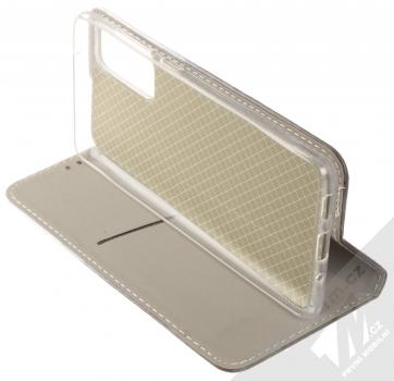 1Mcz Trendy Book Temný les v mlze 1 flipové pouzdro pro Samsung Galaxy S20 FE šedá (grey) stojánek