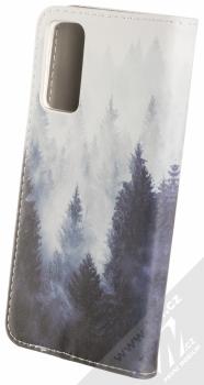 1Mcz Trendy Book Temný les v mlze 1 flipové pouzdro pro Samsung Galaxy S20 FE šedá (grey) zezadu