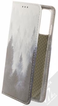 1Mcz Trendy Book Temný les v mlze 1 flipové pouzdro pro Samsung Galaxy S20 FE šedá (grey)