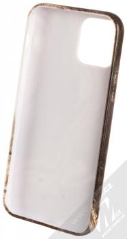 1Mcz Trendy Mramor TPU ochranný kryt pro Apple iPhone 12, iPhone 12 Pro bílá šedá (white grey) zepředu