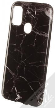 1Mcz Trendy Mramor TPU ochranný kryt pro Samsung Galaxy M21 černá šedá (black grey)