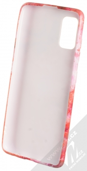 1Mcz Trendy Rubín TPU ochranný kryt pro Samsung Galaxy A41 červená růžová (red pink) zepředu