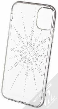 1Mcz Trendy Sněhová vločka TPU ochranný kryt pro Apple iPhone 11 průhledná (transparent) zepředu