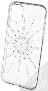 1Mcz Trendy Sněhová vločka TPU ochranný kryt pro Apple iPhone 11 průhledná (transparent)