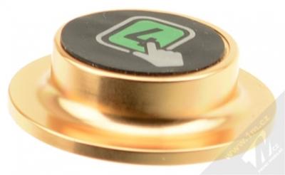 4smarts Ultimag MisterMAG magnetický držák na stěnu do auta, domácnosti zlatá (gold) čepička zepředu
