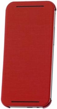 HTC HC V941 originální pevné pouzdro s flipem pro HTC One (M8), One M8s červená (red)