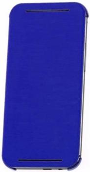 HTC HC V941 originální pevné pouzdro s flipem pro HTC One (M8), One M8s modrá (blue)