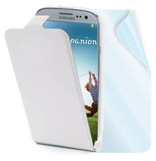 Muvit Slim kožené pouzdro pro Samsung i9500 Galaxy S IV, i9505 Galaxy S4, i9506 Galaxy S4 LTE-A bílá (white)