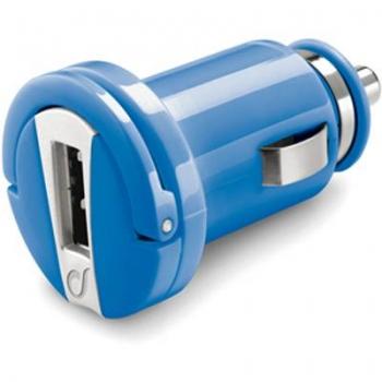 CellularLine Micro USB Smart nabíječka do auta s USB výstupem modrá (blue)