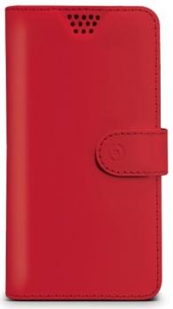 Celly Wally Unica XL univerzální flipové pouzdro pro mobilní telefon, mobil, smartphone červená (red)