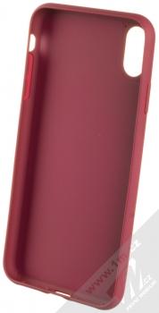 Adidas 3-Stripes Suede Snap Case ochranný kryt pro Apple iPhone XS Max (CL2351) tmavě červená zlatá (collegiate burgundy gold) zepředu