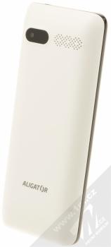 ALIGATOR D940 DUAL SIM bílá (white) šikmo zezadu