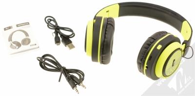ART AP-B04-C Bluetooth Stereo headset černá limetkově zelená (black lime) balení