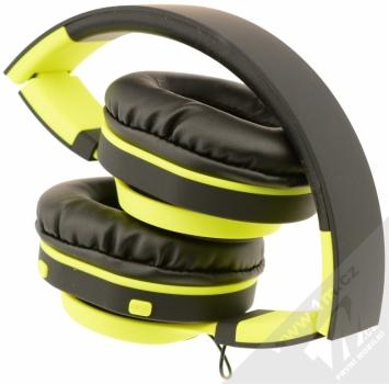 ART AP-B04-C Bluetooth Stereo headset černá limetkově zelená (black lime) složené