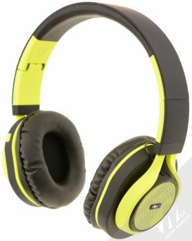 ART AP-B04-C Bluetooth Stereo headset černá limetkově zelená (black lime) zezadu