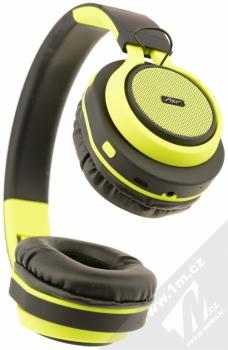 ART AP-B04-C Bluetooth Stereo headset černá limetkově zelená (black lime) zezdola