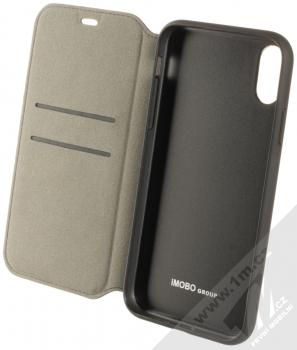 Audi TT Synthetic Leather Folio flipové pouzdro pro Apple iPhone XR (AU-TPUFCIPXR-TT/D1-BK) černá (black) otevřené
