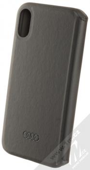 Audi TT Synthetic Leather Folio flipové pouzdro pro Apple iPhone XR (AU-TPUFCIPXR-TT/D1-BK) černá (black) zezadu