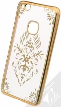 Beeyo Floral pokovený ochranný kryt pro Huawei P10 Lite zlatá průhledná (gold transparent)