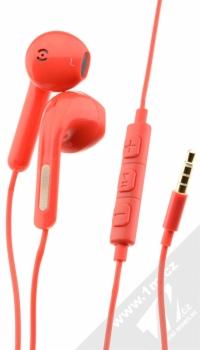 Blue Star Android Headset sluchátka s mikrofonem a ovladačem červená (red)