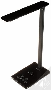 Blue Star LED DeskLamp with Wireless Charger lampička s podložkou bezdrátového Qi nabíjení černá (black)