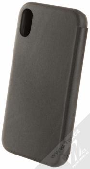 BMW Signature Real Leather flipové pouzdro z pravé kůže pro Apple iPhone XR (BMFLBKI61LLSB) černá (black) zezadu