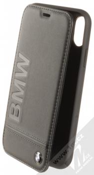 BMW Signature Real Leather flipové pouzdro z pravé kůže pro Apple iPhone XR (BMFLBKI61LLSB) černá (black)